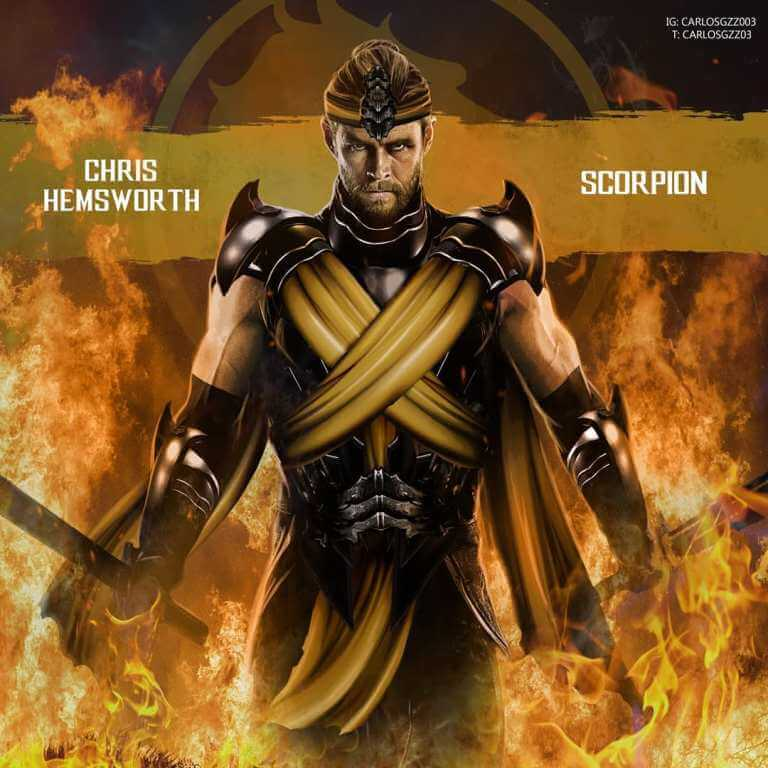 Chris Hemsworth como Scorpion